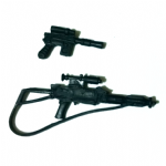 Star Wars 1995 POTF2  Han Solo spare weapons
